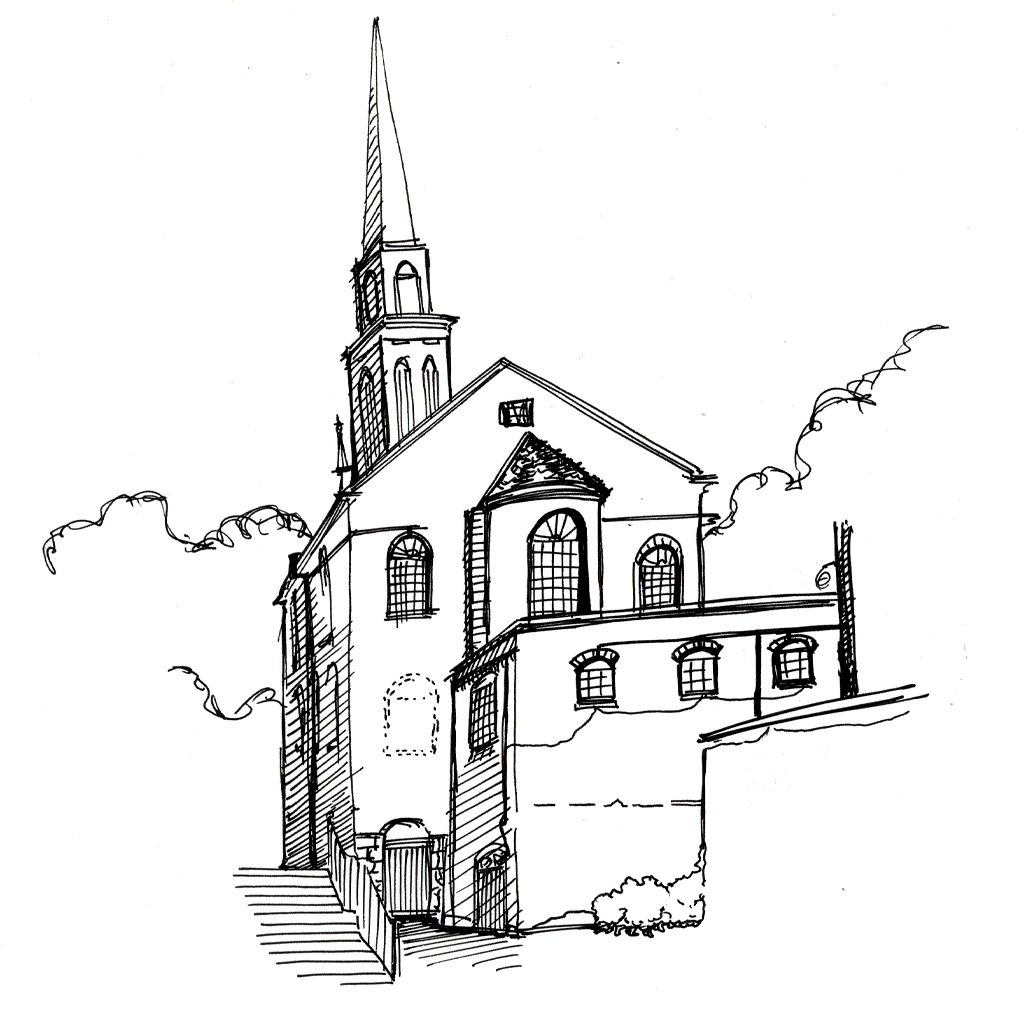Old North Church Coloring Pages Sketch Coloring Page