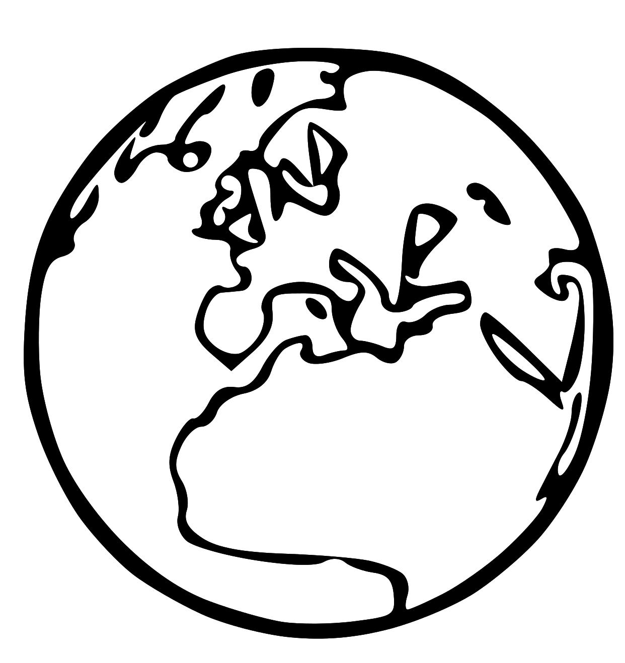 Earth Clip Art Black And White