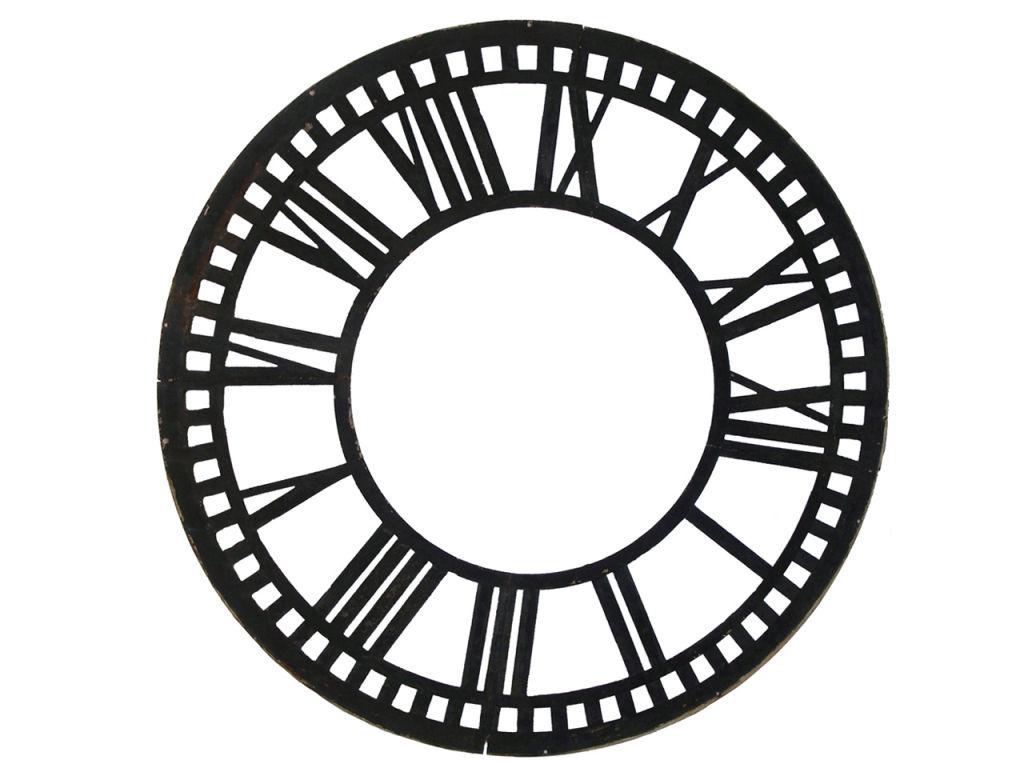 Roman Numeral Clock Face Template
