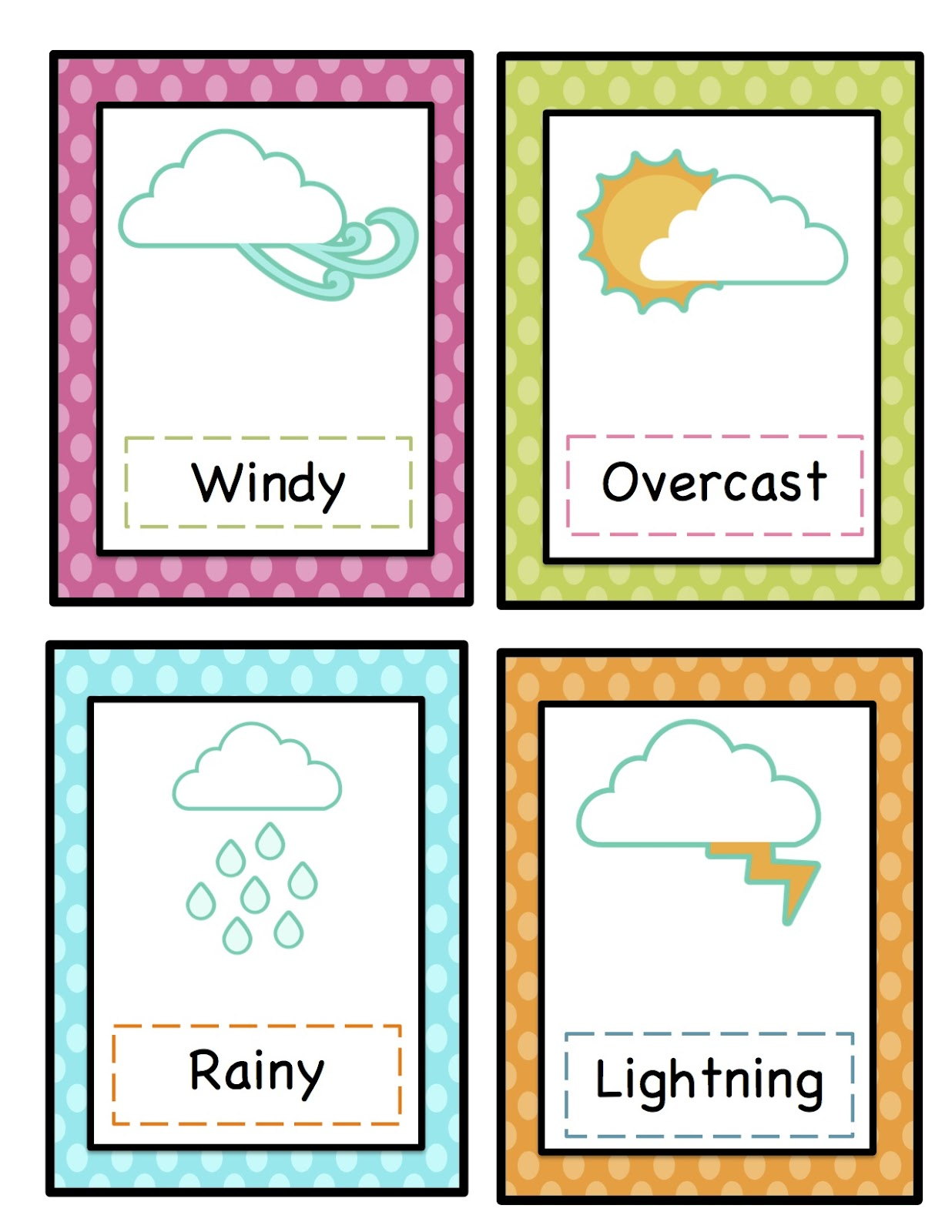 Printable Weather Symbols