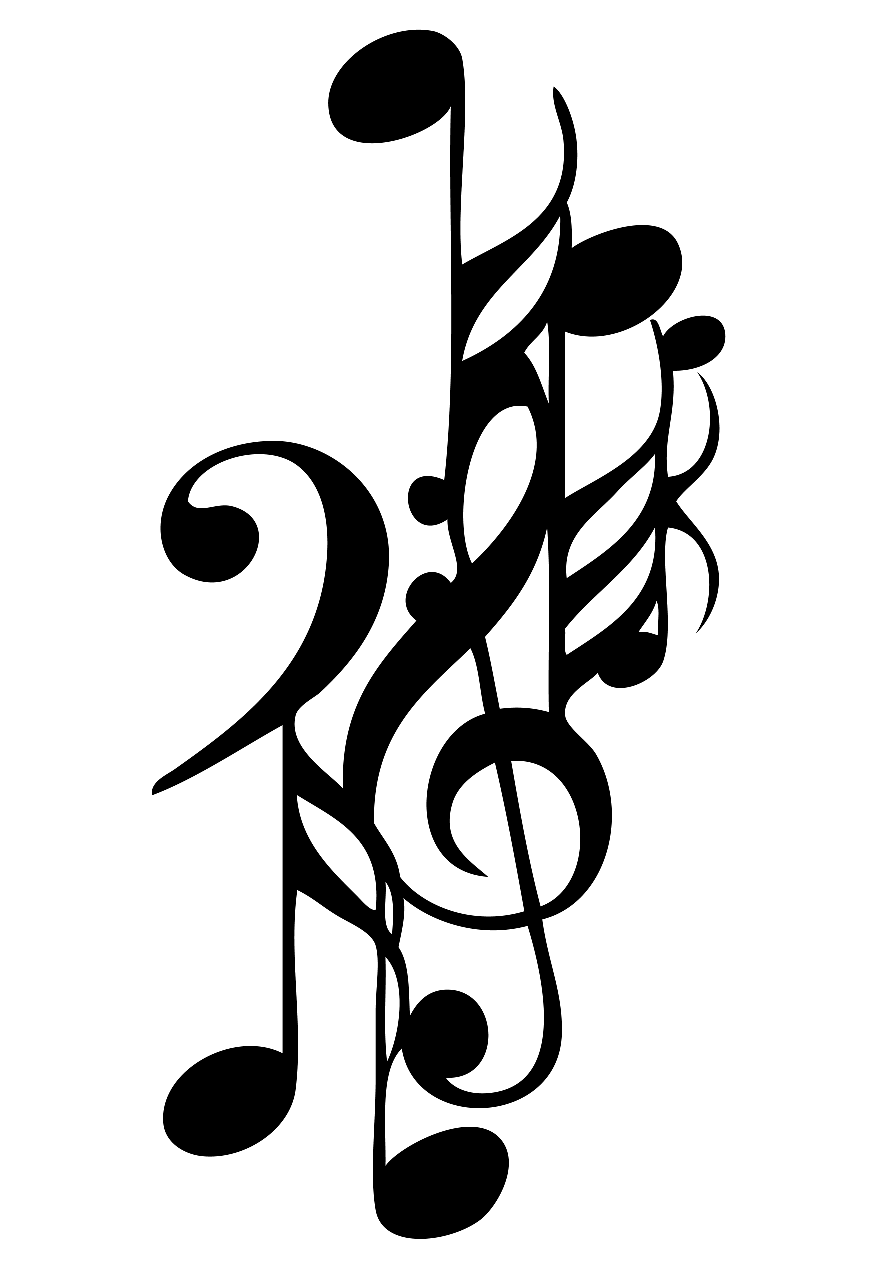 Cool Music Notes Drawings
