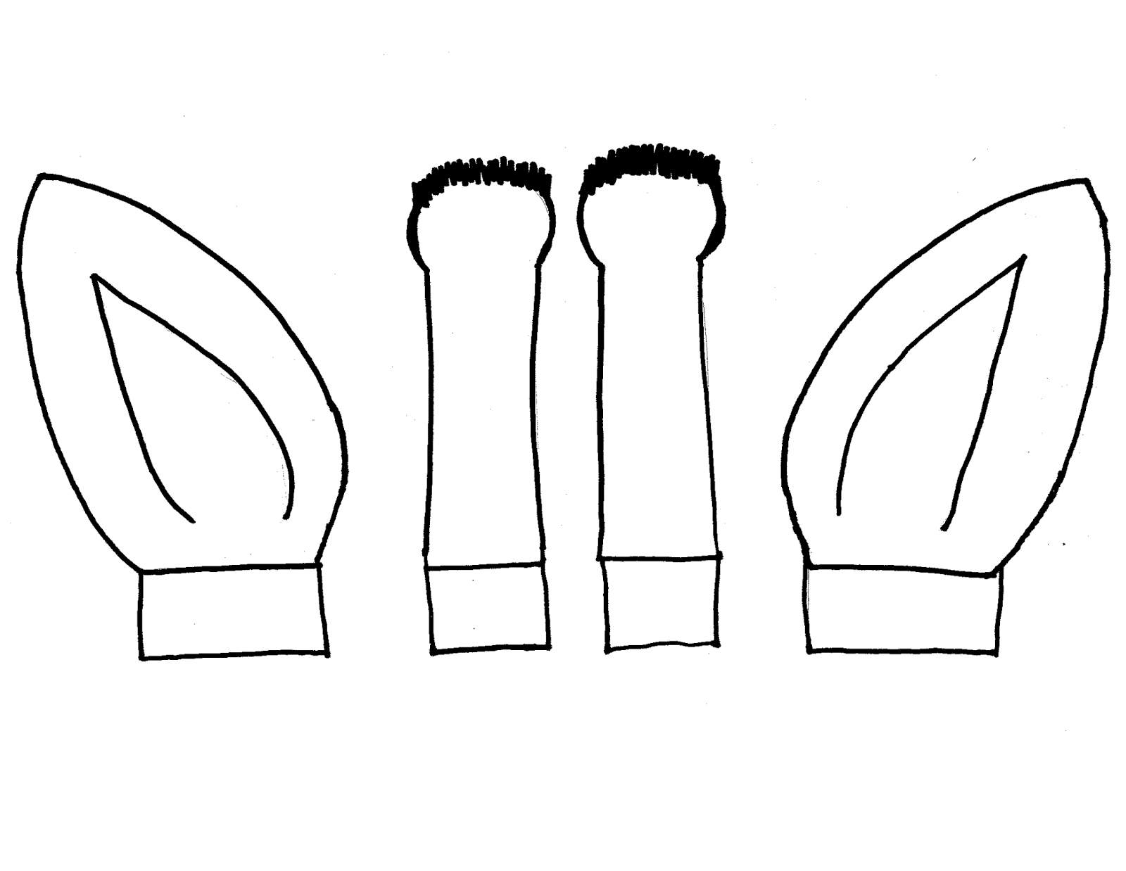 Printable Cow Ears For Costume