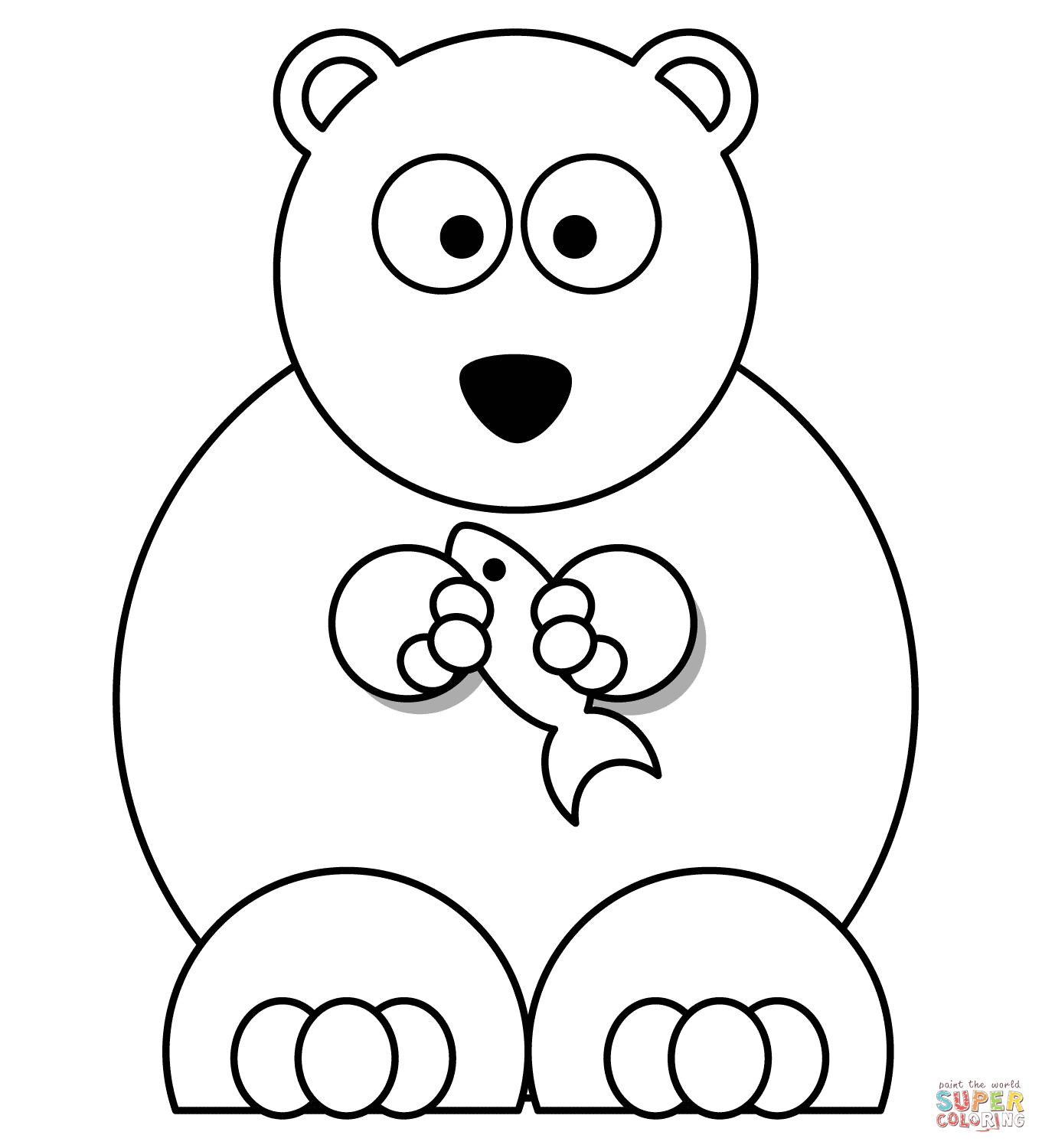 Bear Cartoon Colouring