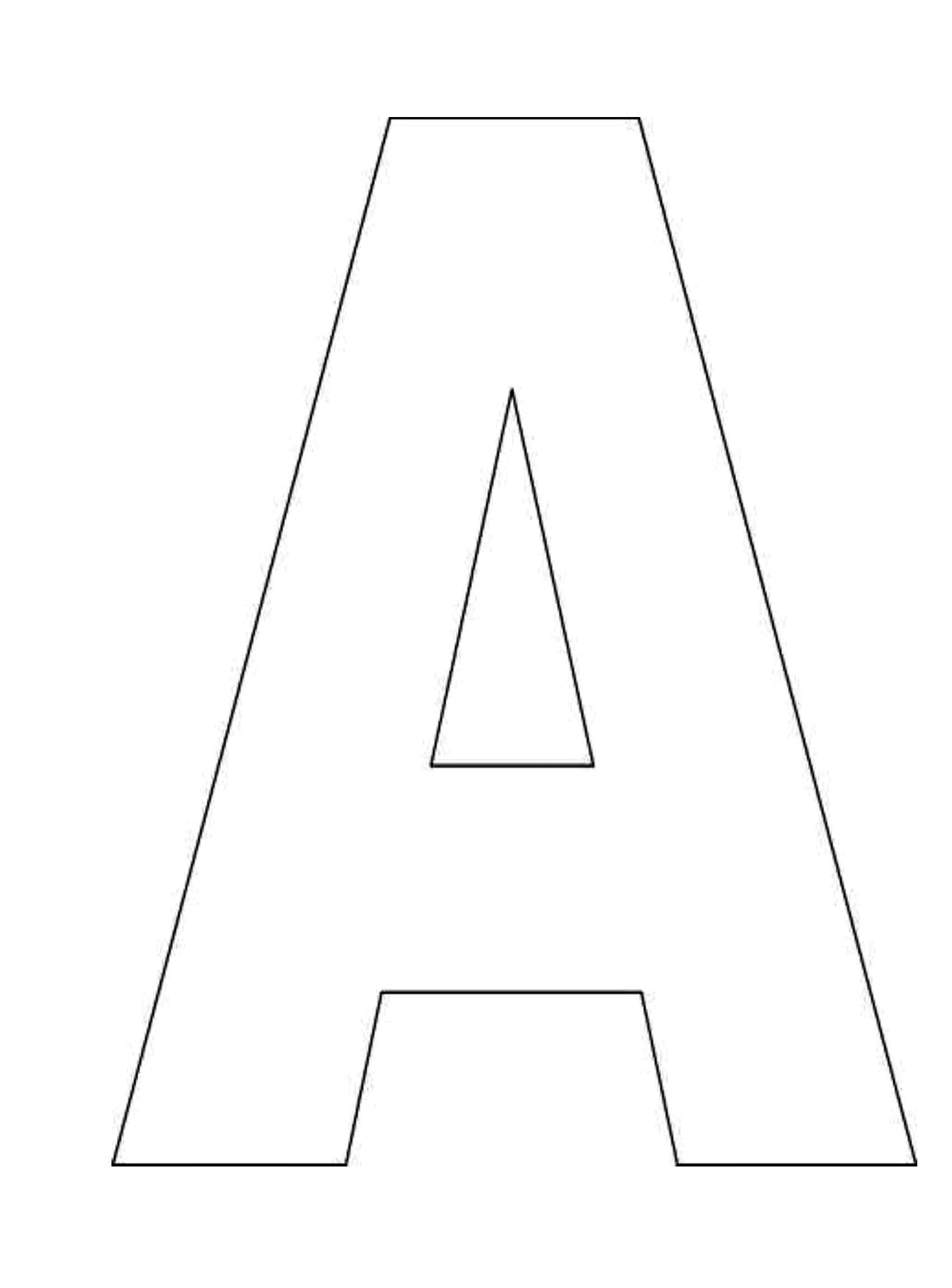 The Whole Letter Template Colouring Pages