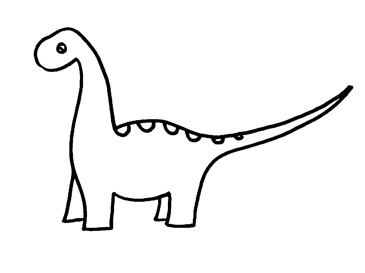 Black And White Dinosaur Clipart