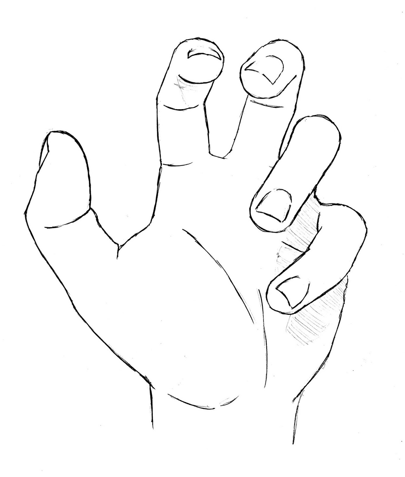 Drawing Open Hand