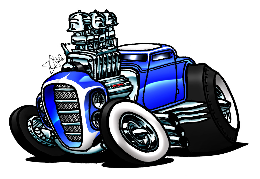 New Muscle Car Cartoon Art