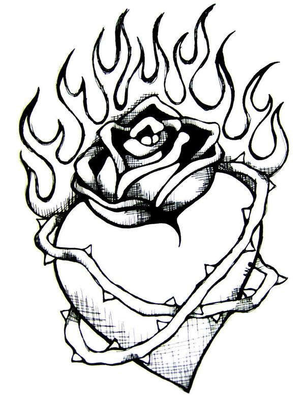 drawings of hearts on fire  clipart best  clipart best