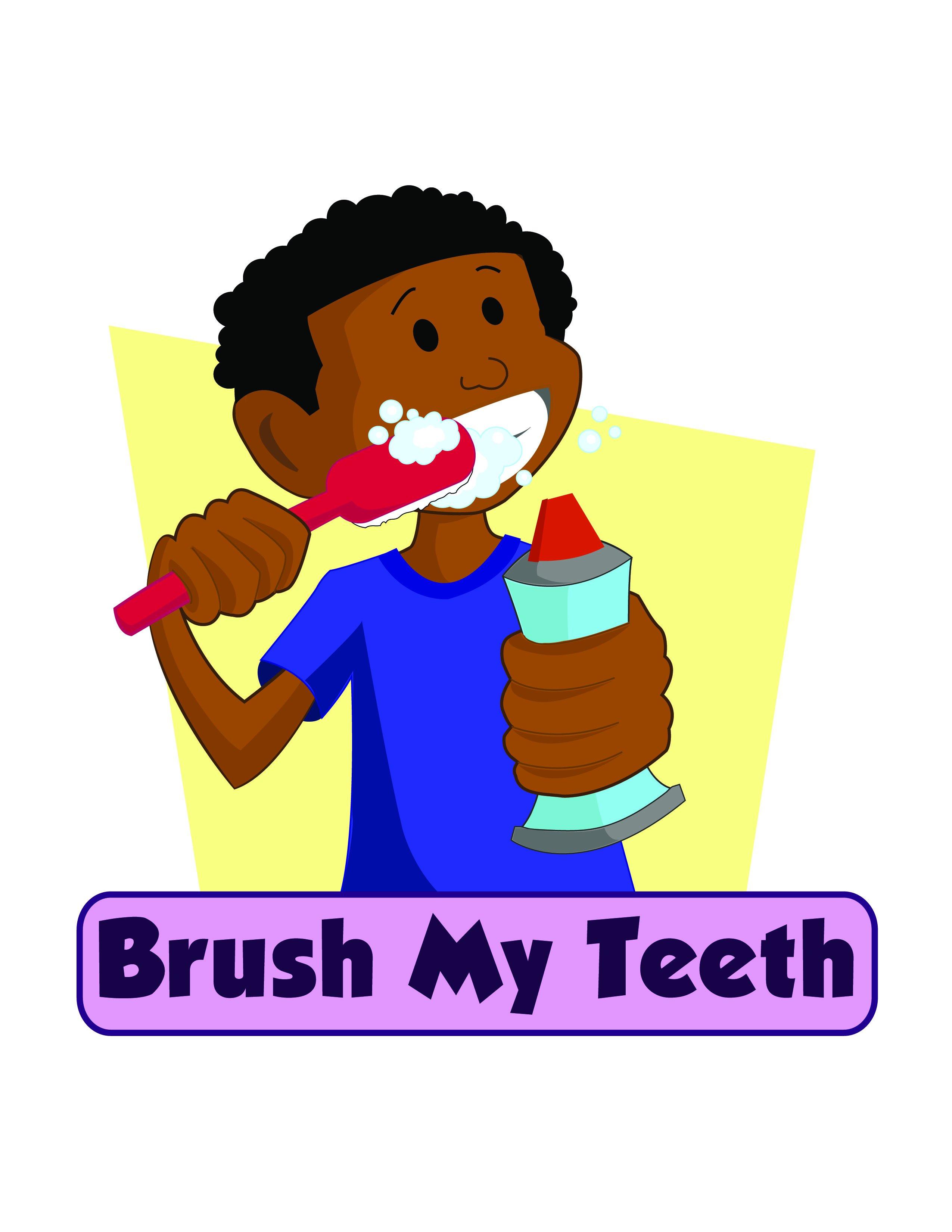 Clipart For Children Brushing Teeth
