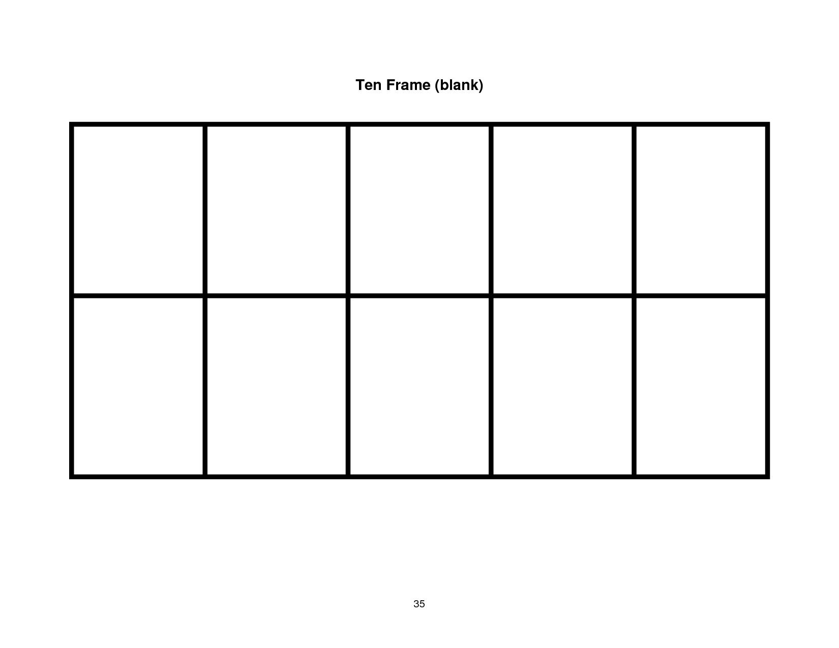 Blank Ten Frame Clipart