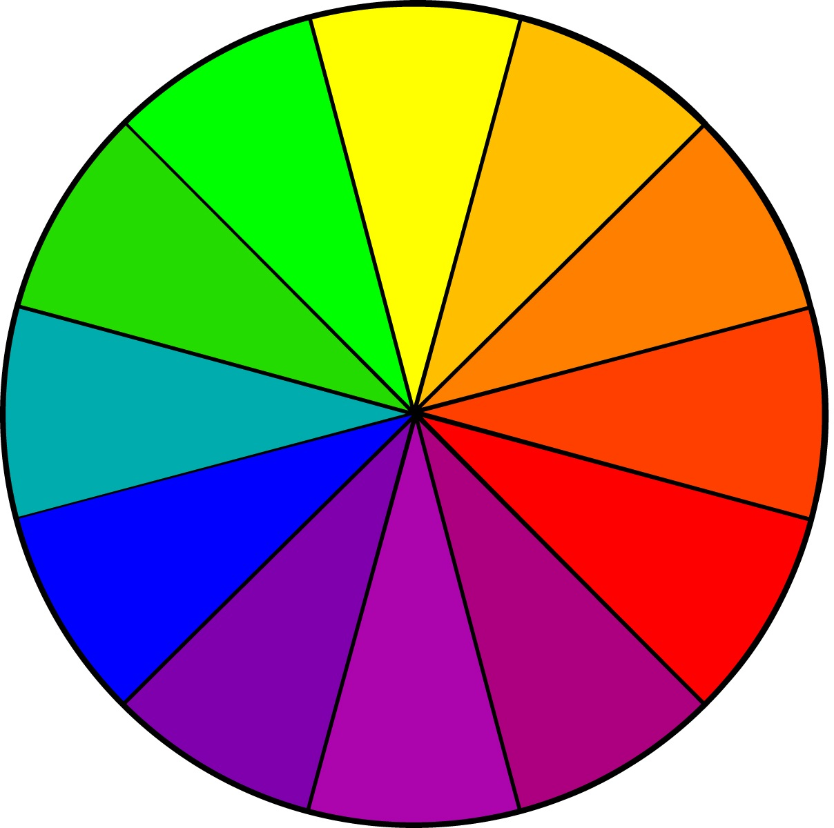 Rgb Color Wheel Hex Values Printable Blank Color Wheel