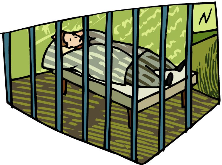 Clipart Of Jail Cell - Clipart