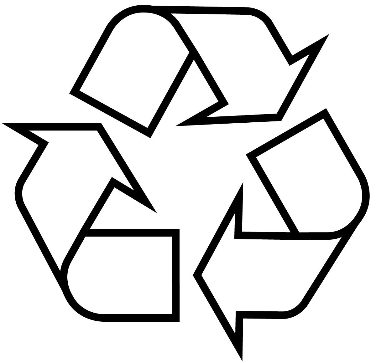 White Recycle Symbol