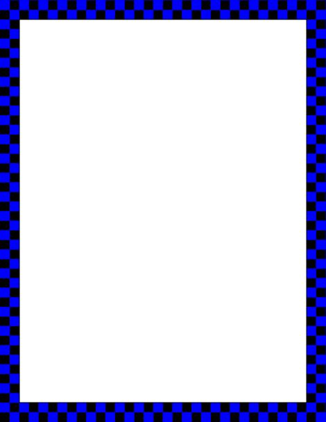 Printable Blue Page Borders - ClipArt Best