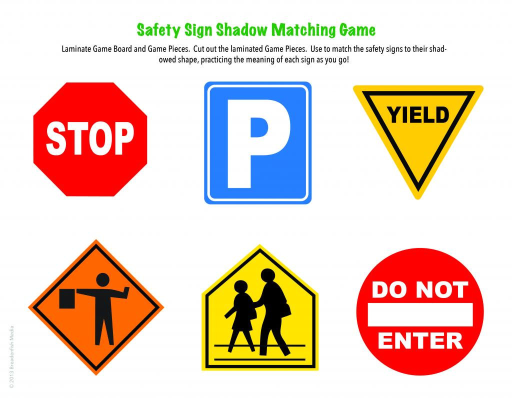 Printable Safety Signs For Kids