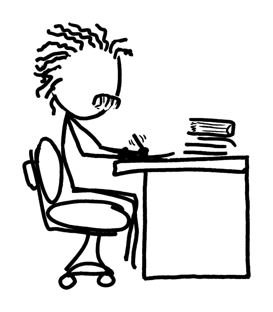 Einstein Cartoon Drawing