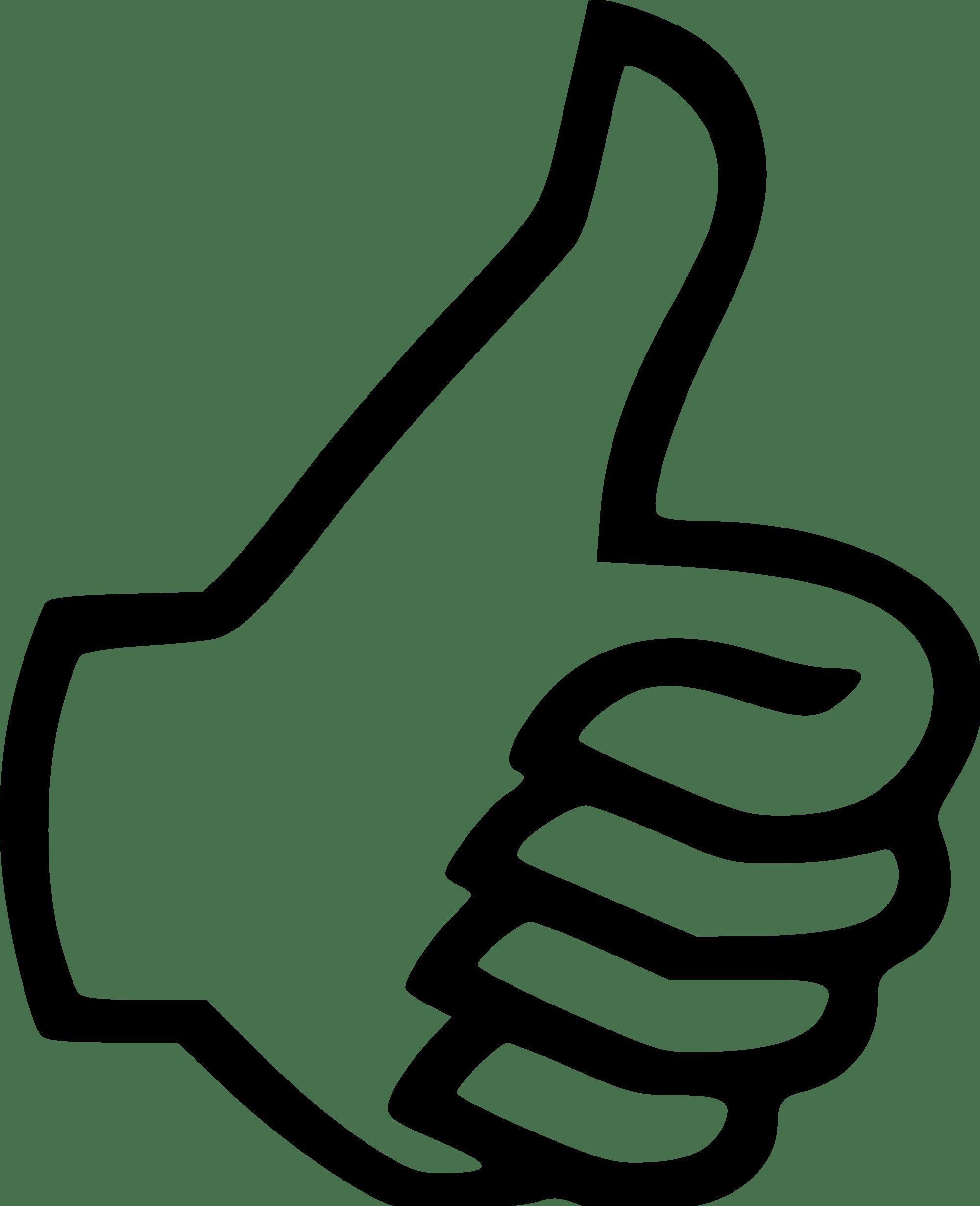 Thumbs Up Transparent