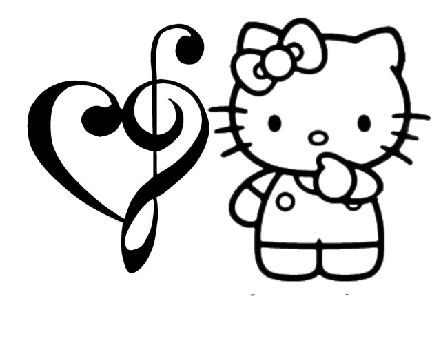 Hello Kitty Valentine Coloring Pages  Wallpaper ZOO - ClipArt