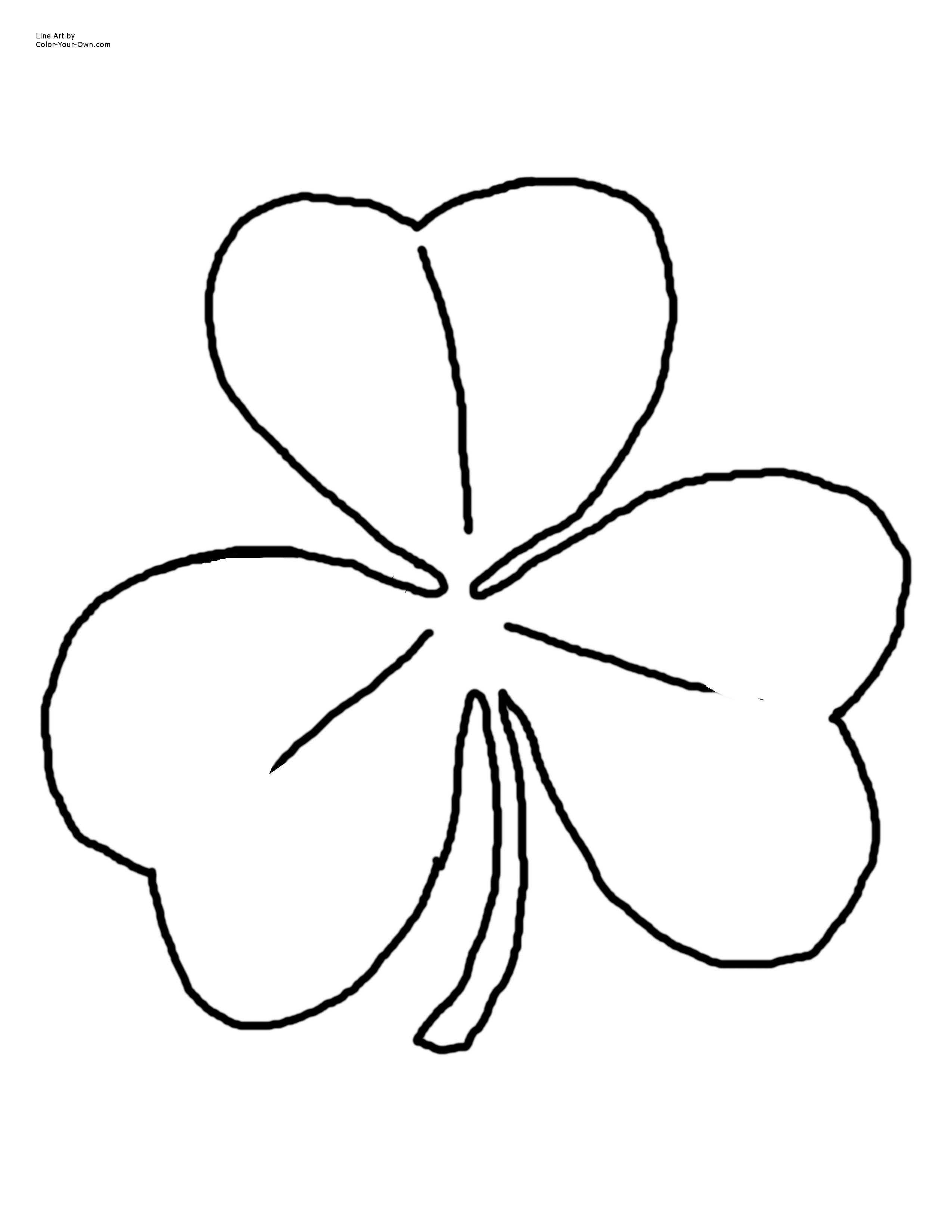 Shamrock Template Outline
