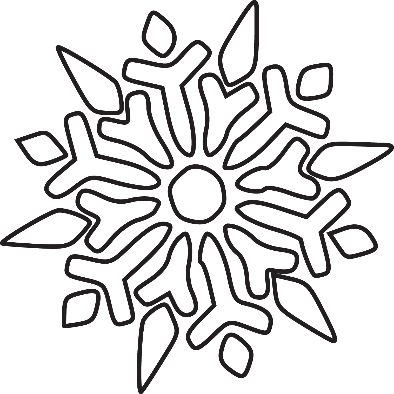 Snowflake Line Drawing
