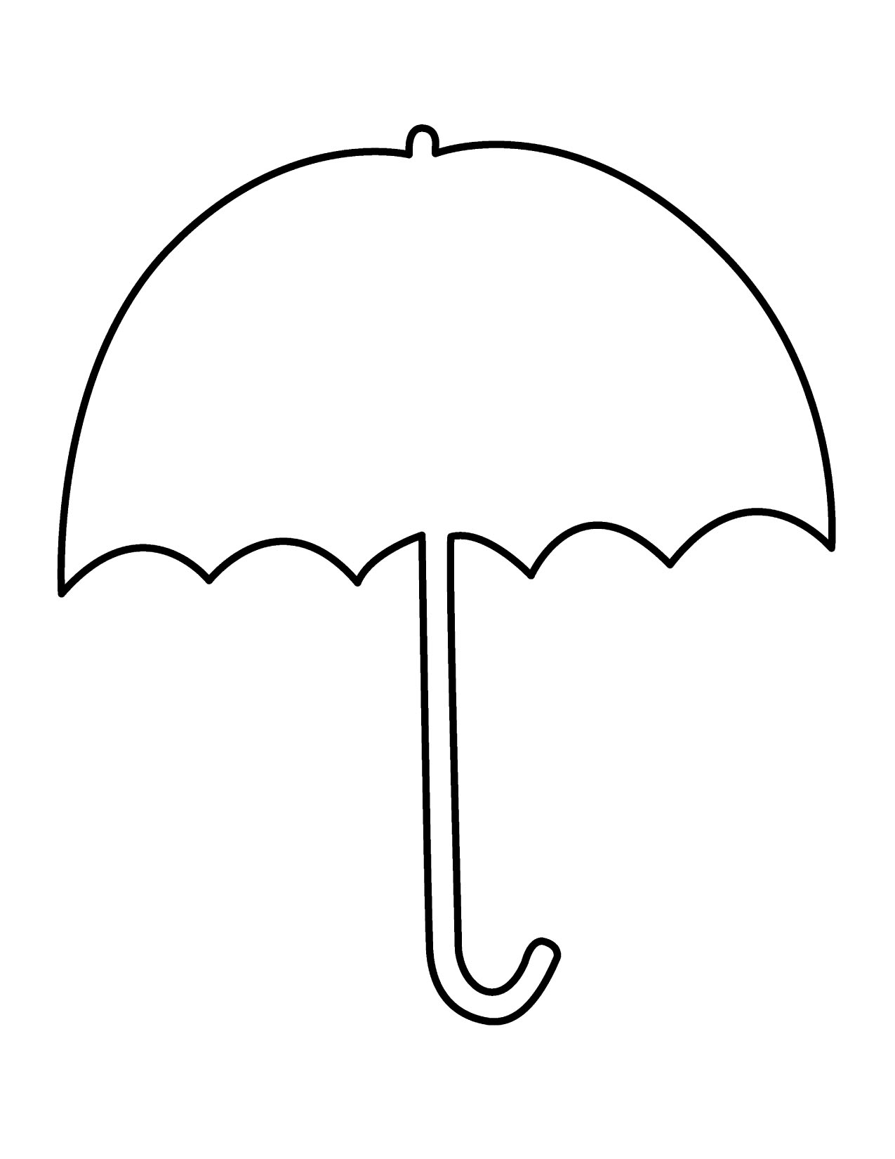 Umbrella Coloring Page For Alphabet Letter U