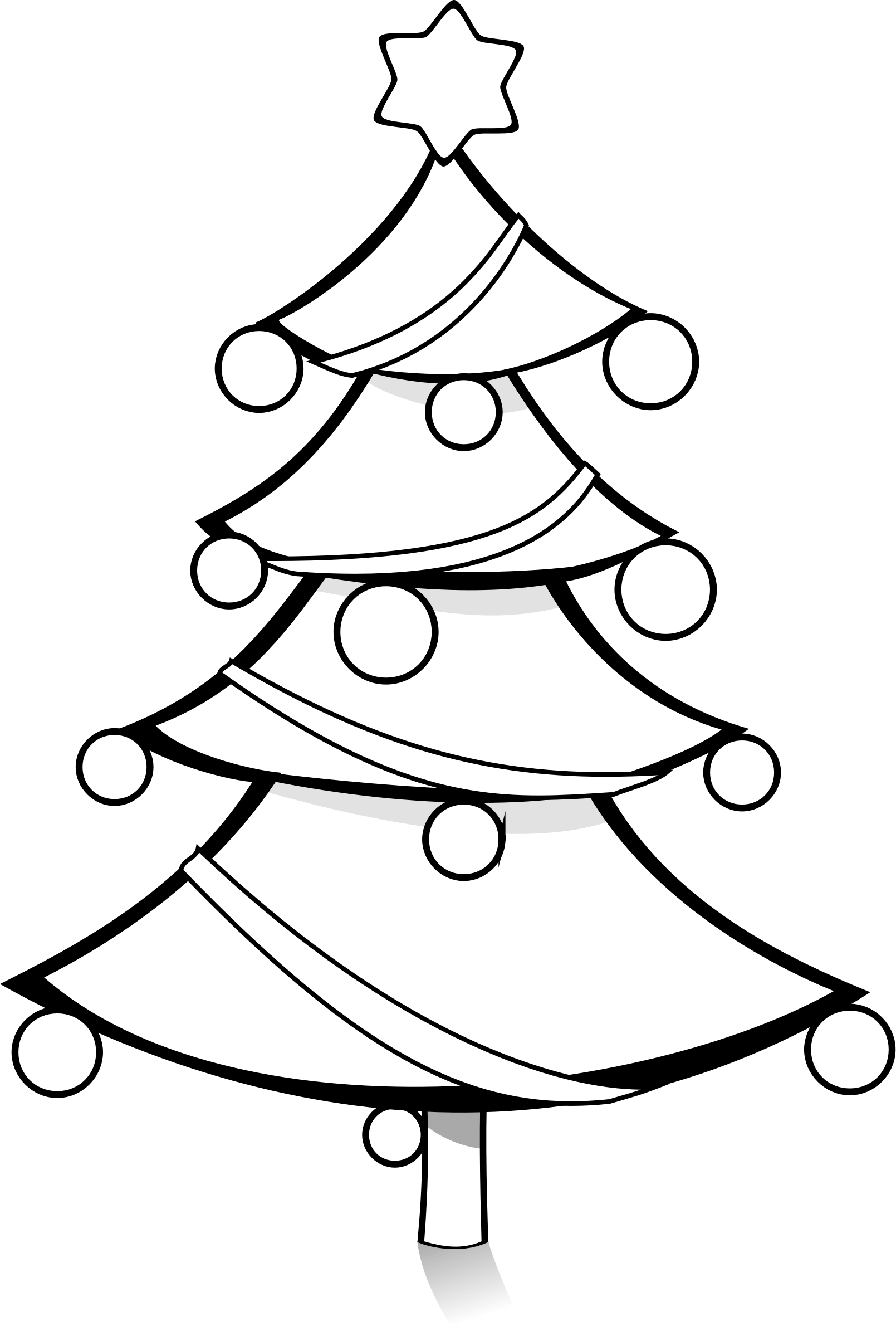 Christmas Ornaments Clipart Coloring