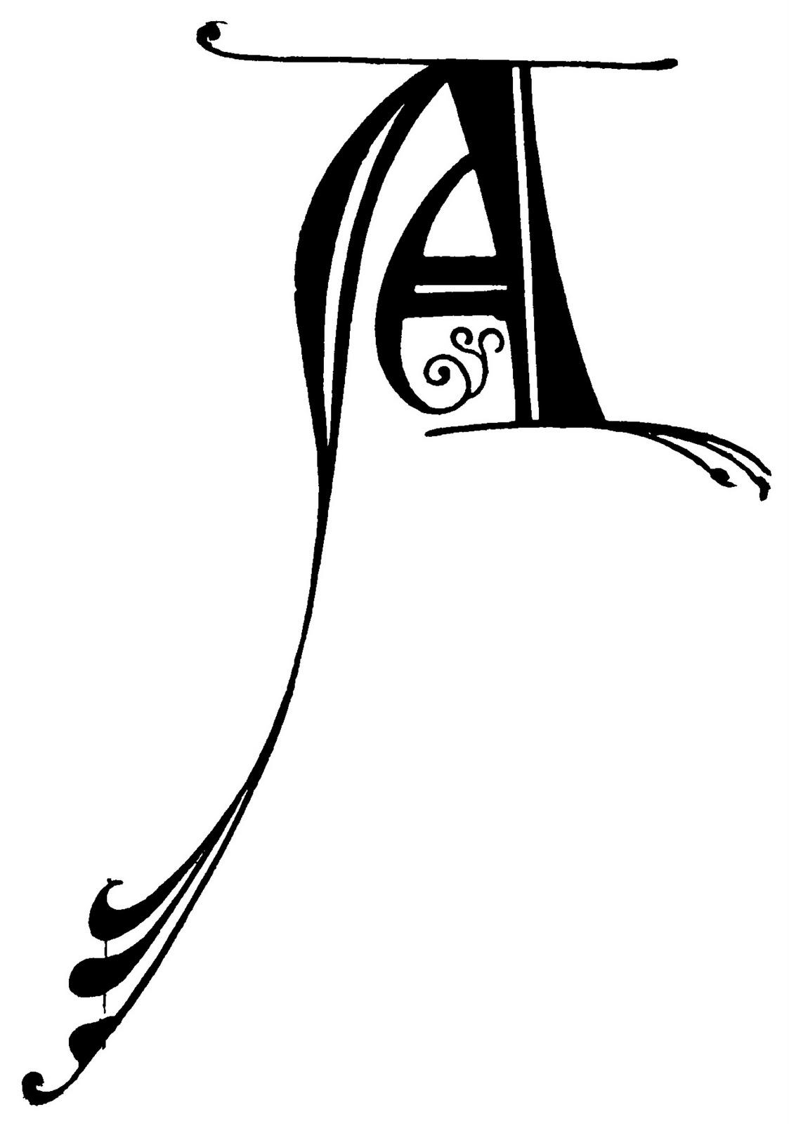 Decorative Alphabet Letters Clip Art