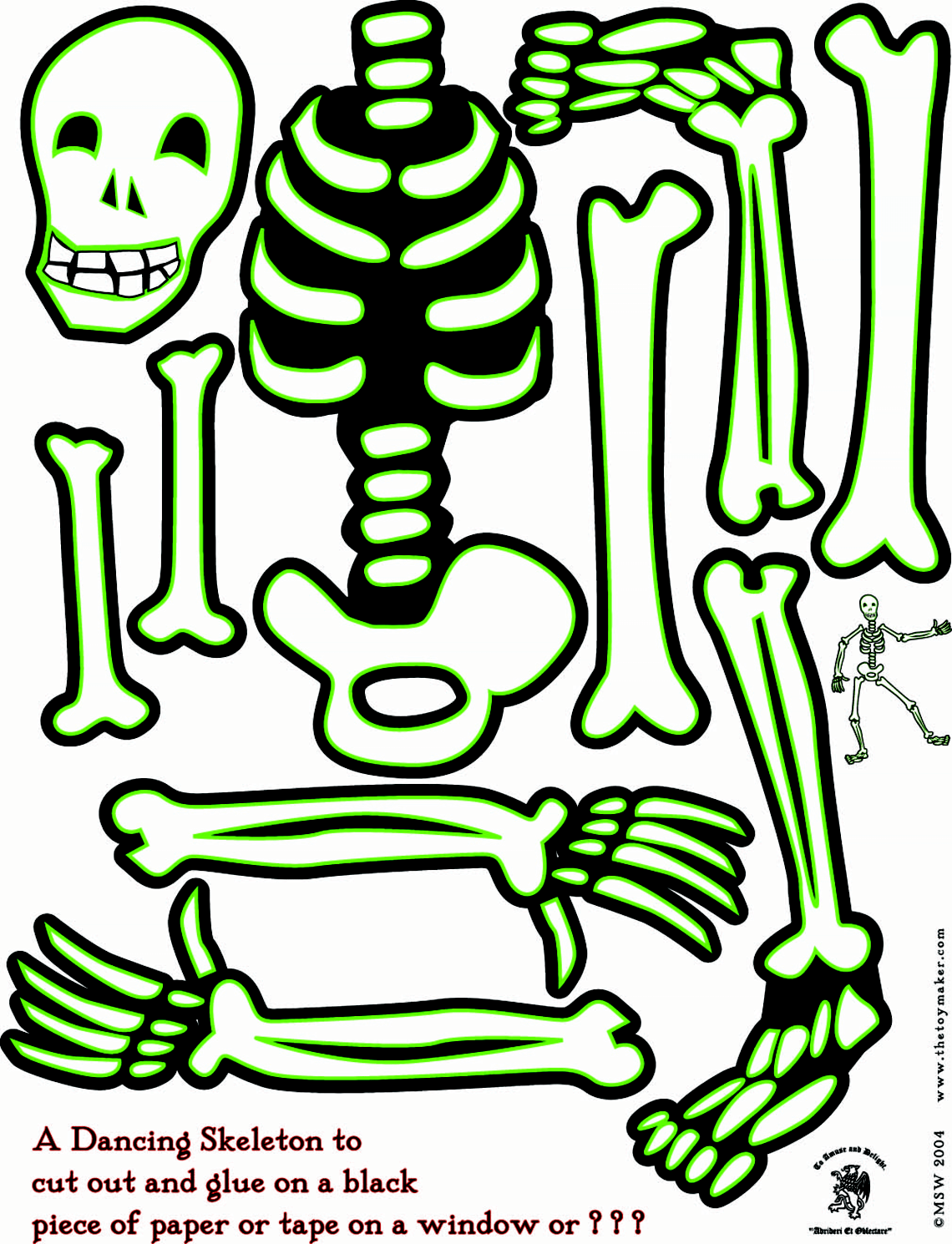 Human Skeleton Template