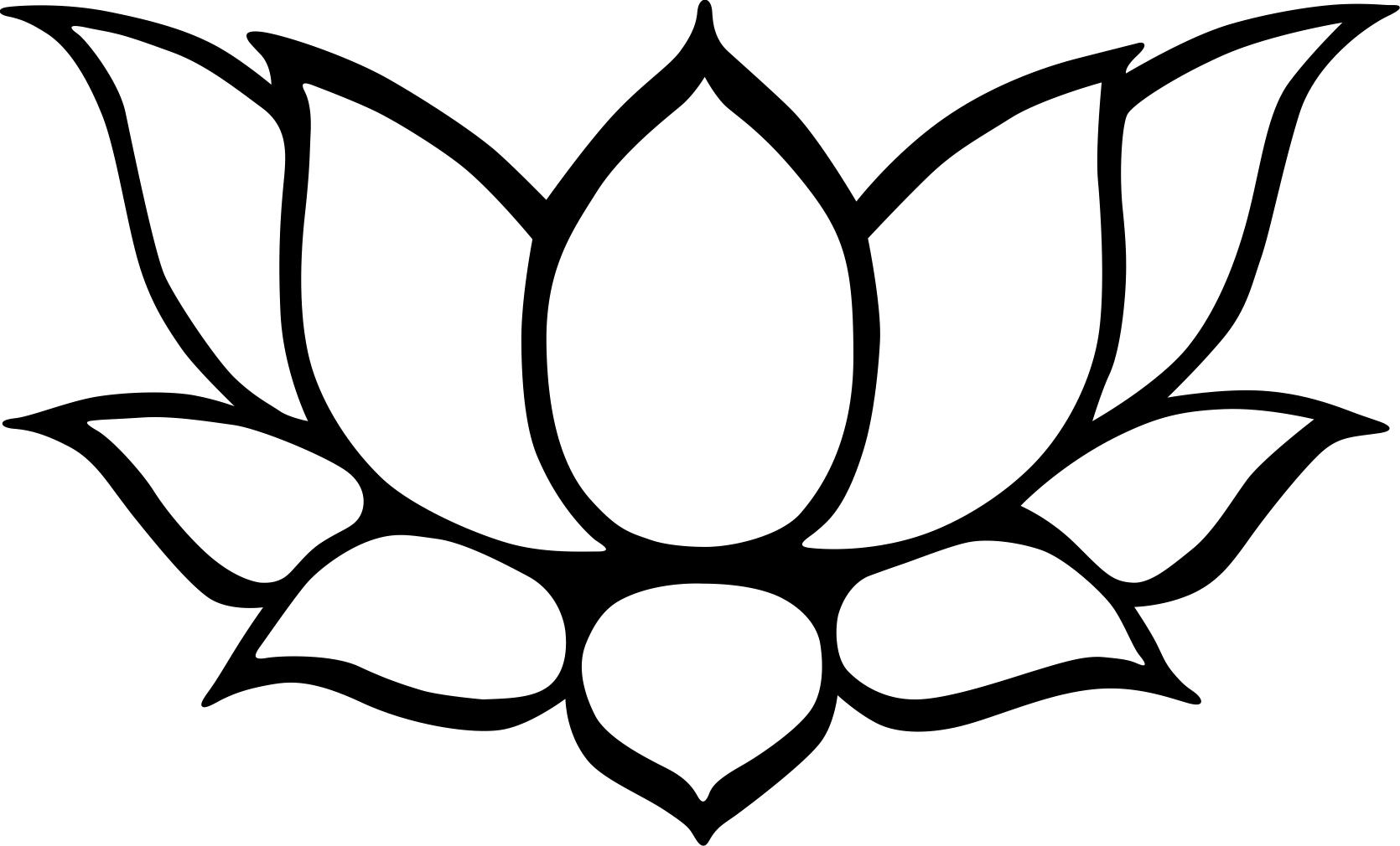 Clip Art Black And White Lotus Flower Clipart