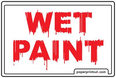 Caution Wet Paint Sign ClipArt Best
