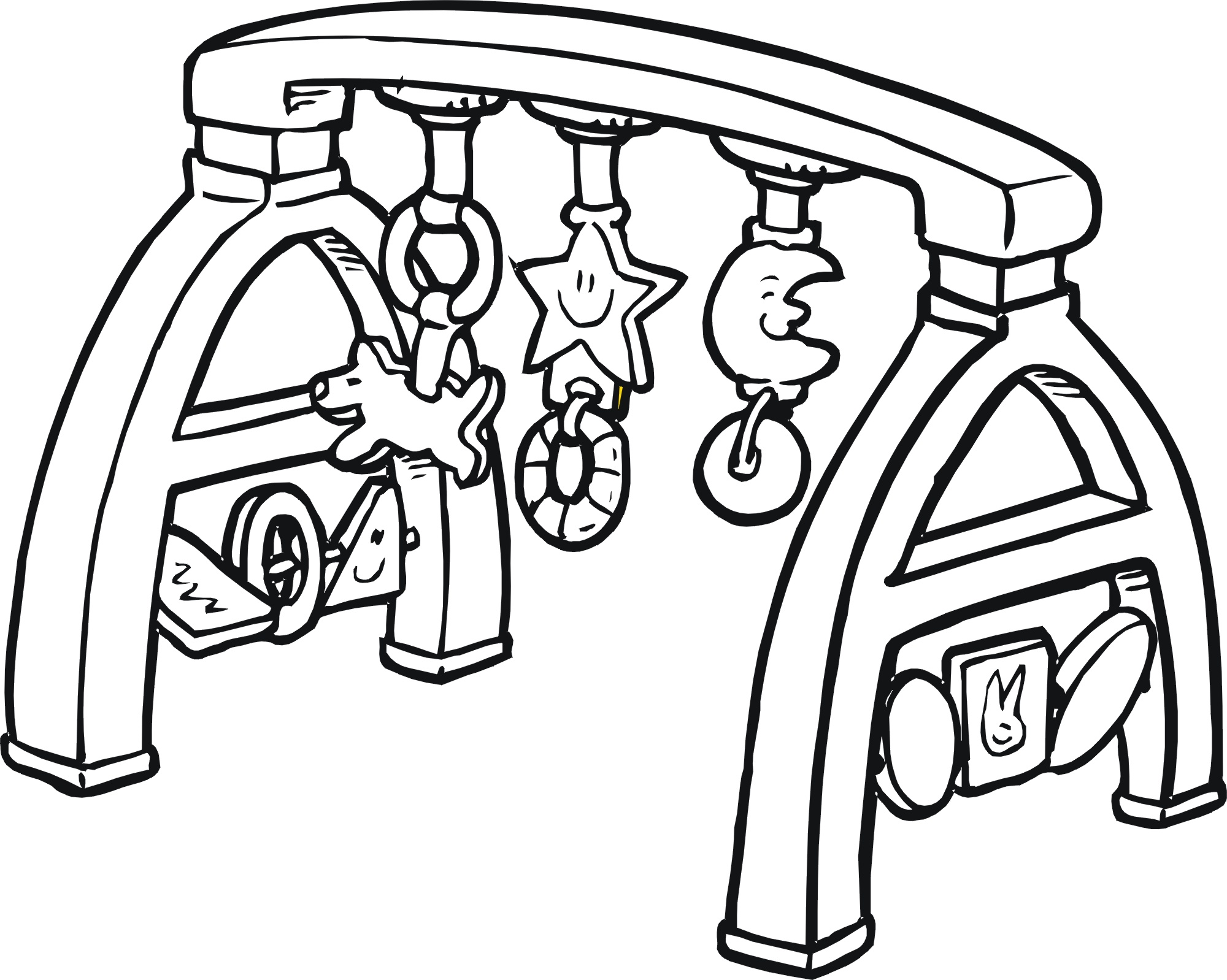 Toy Box Clip Art Black And White Sketch Coloring Page