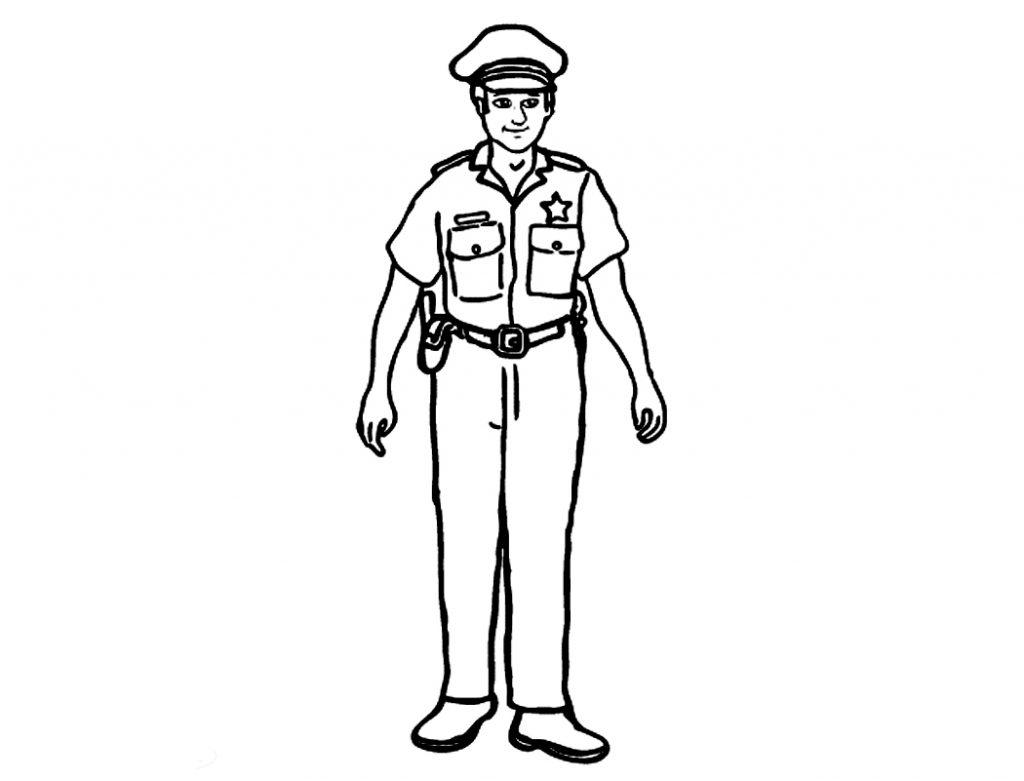 Policeman Badge Coloring Page
