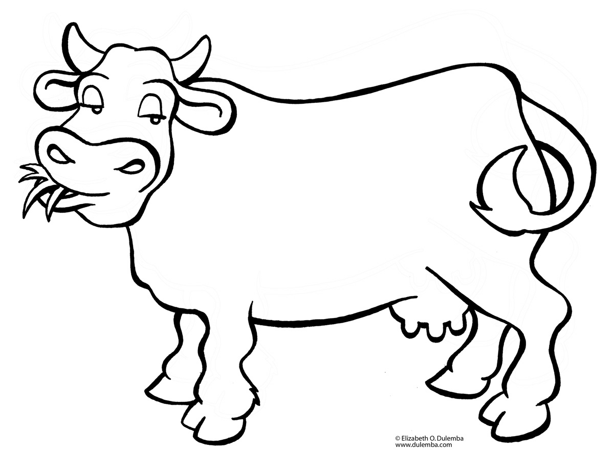Cartoon Cow Coloring Pages
