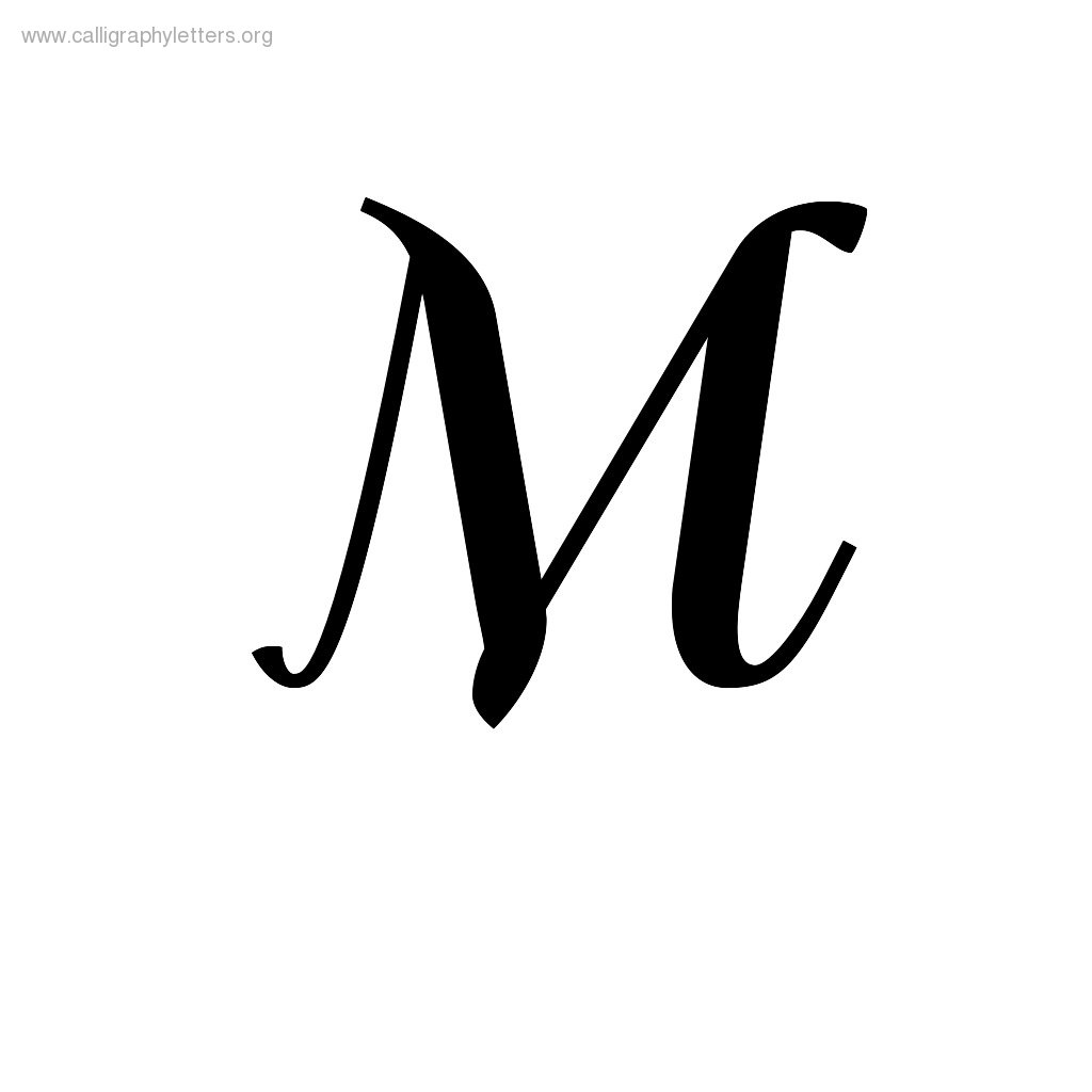 Fancy M Letter Outline