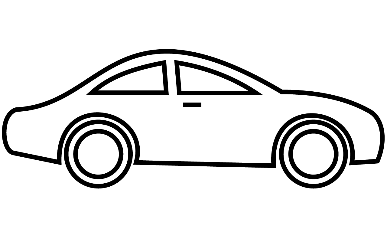 Toy Car Outline Clipart