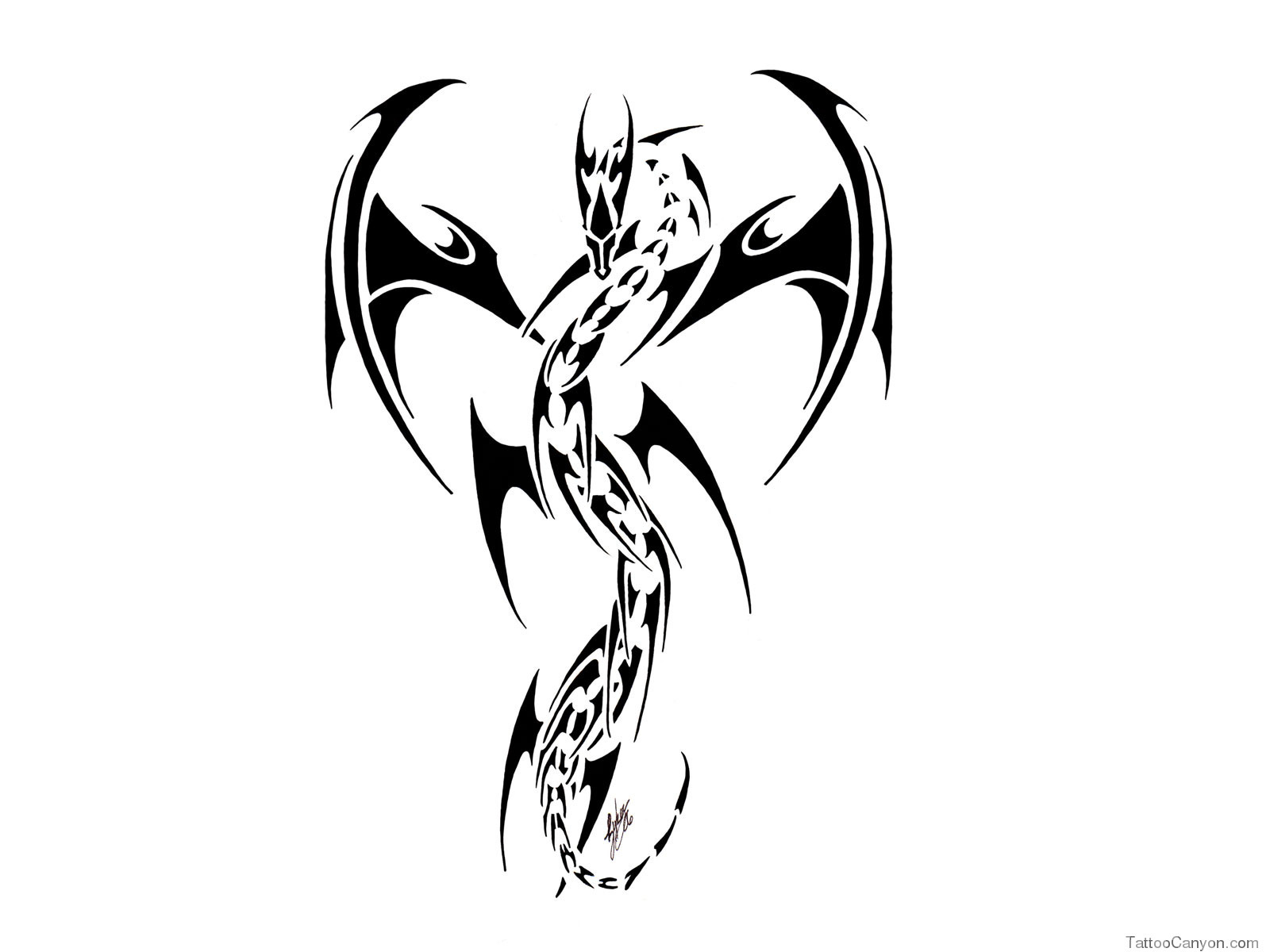 Free Designs Dragon Like Robot Tattoo Wallpaper Picture