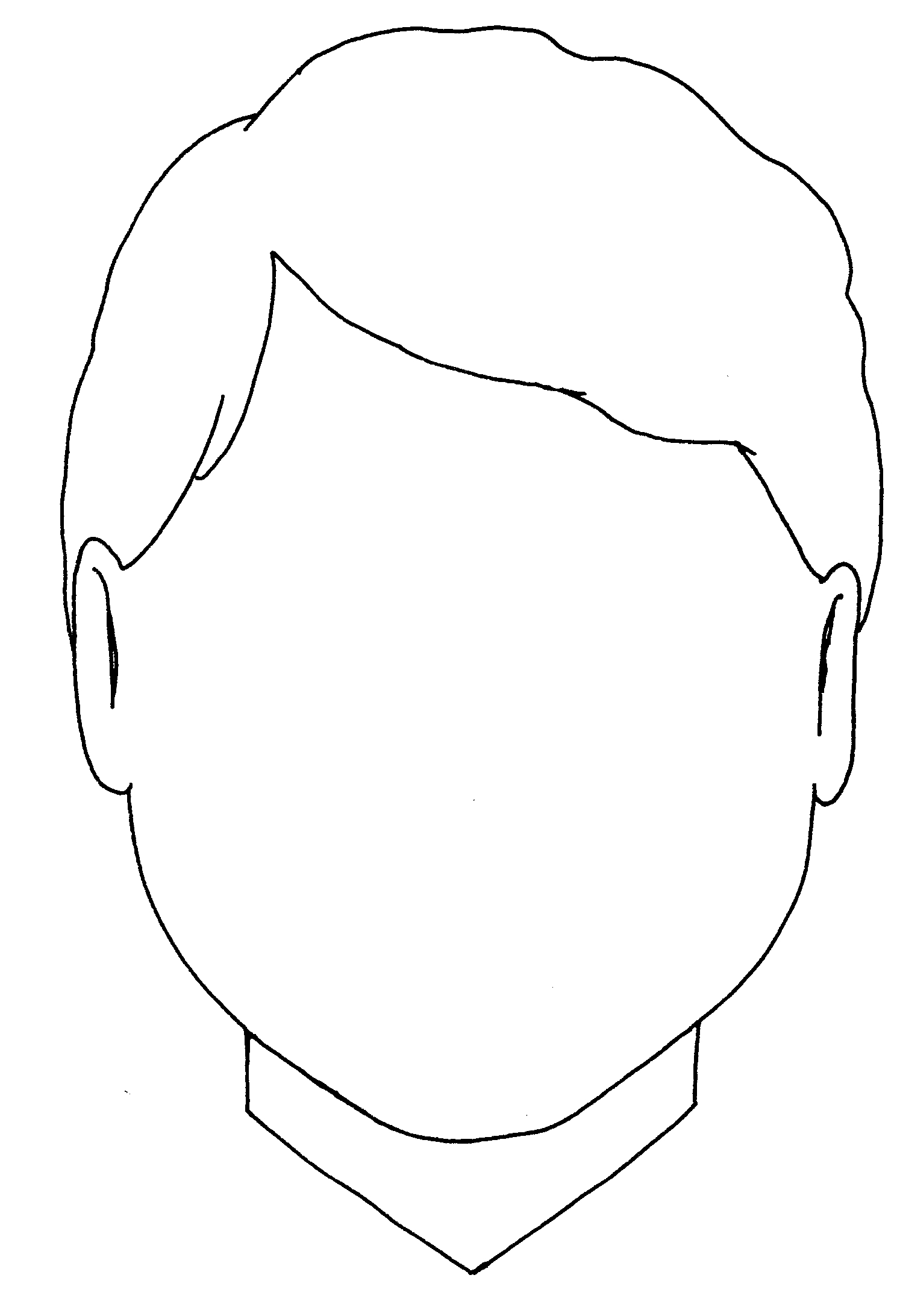 Blank Boy Face Colouring Coloring Pages