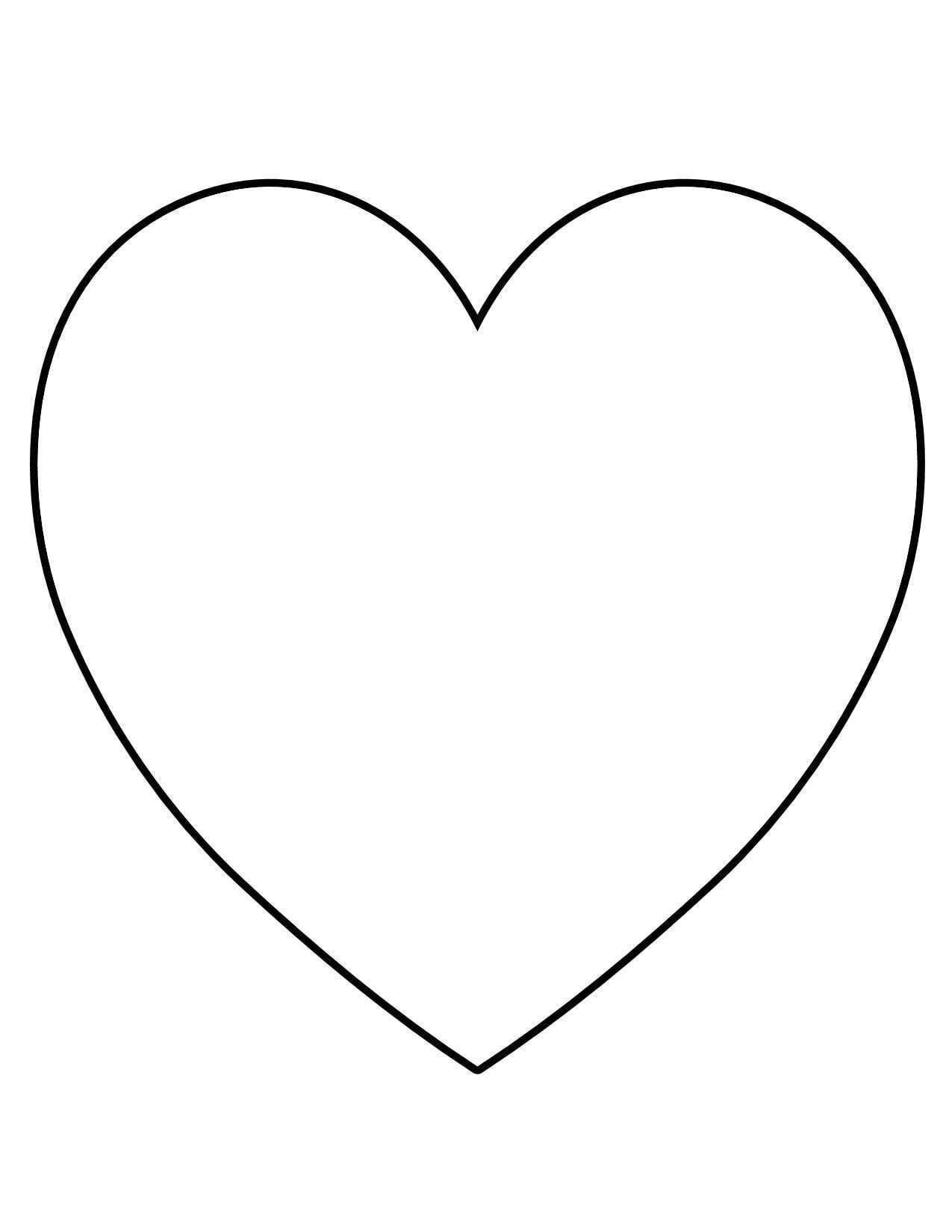 Printable Heart Shape Template