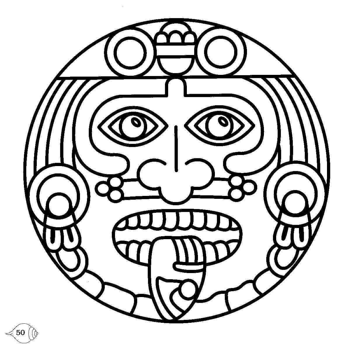 Best Aztec Calendar Drawings
