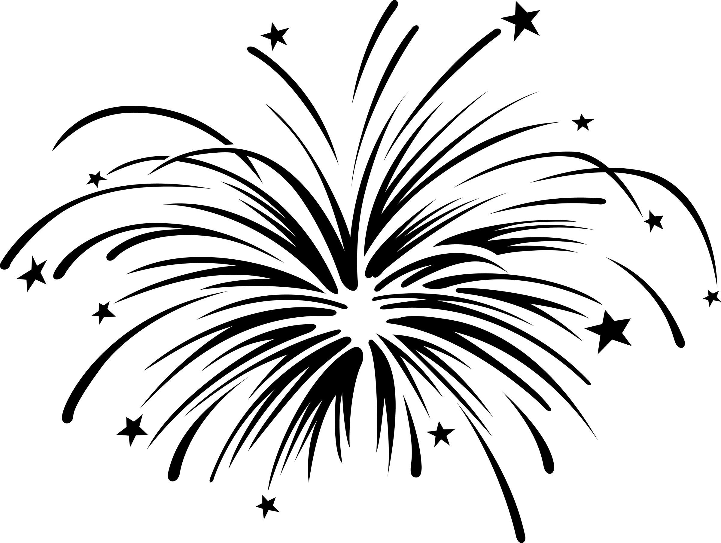 How Draw Firework Clipart