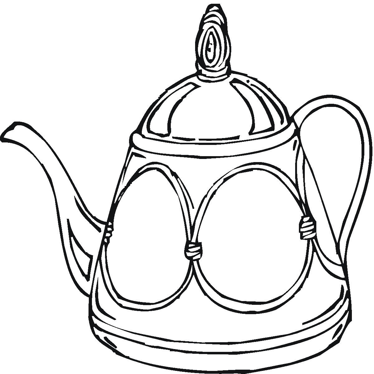 Teapot Coloring Page