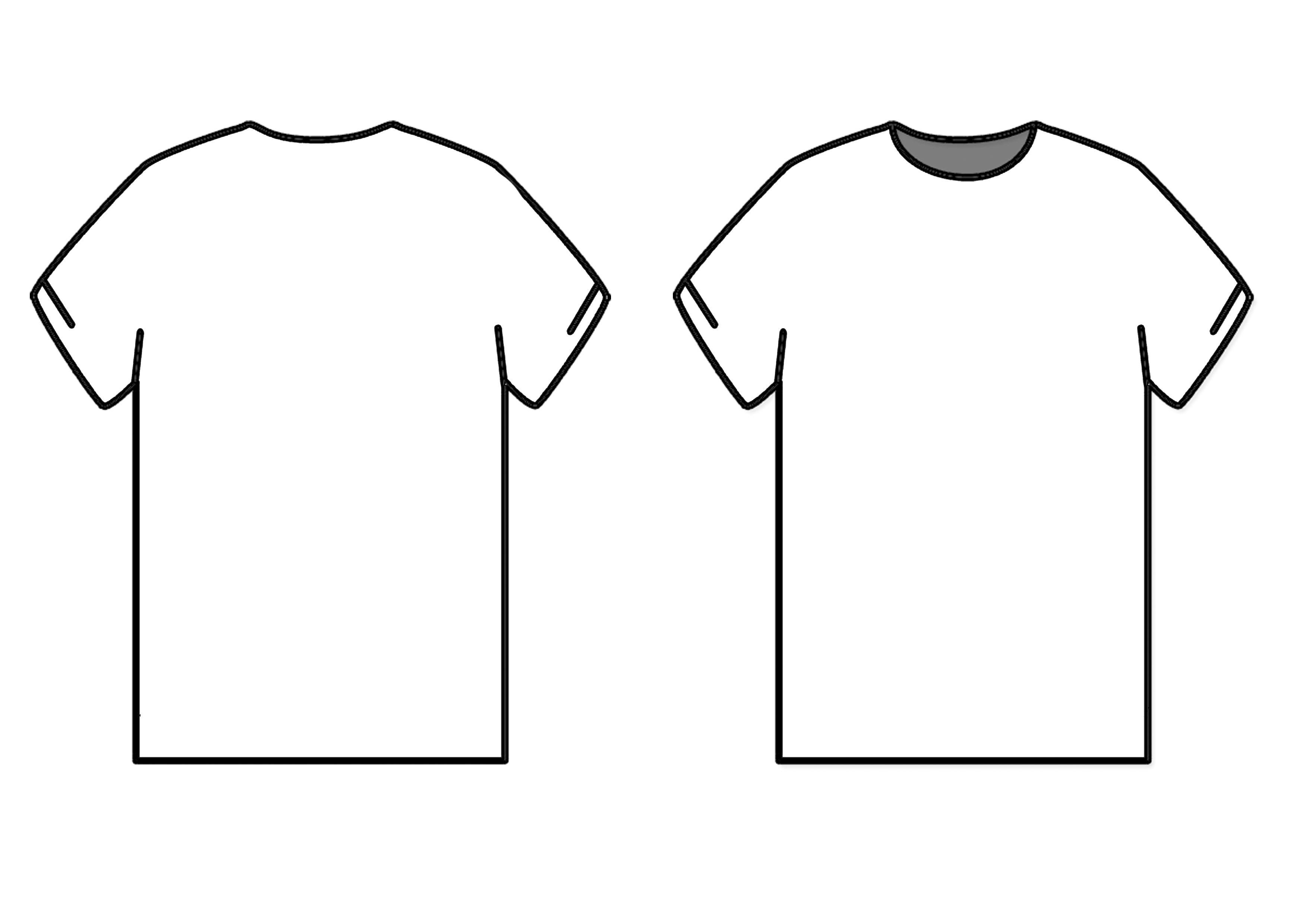 Tee Shirt Outline Template