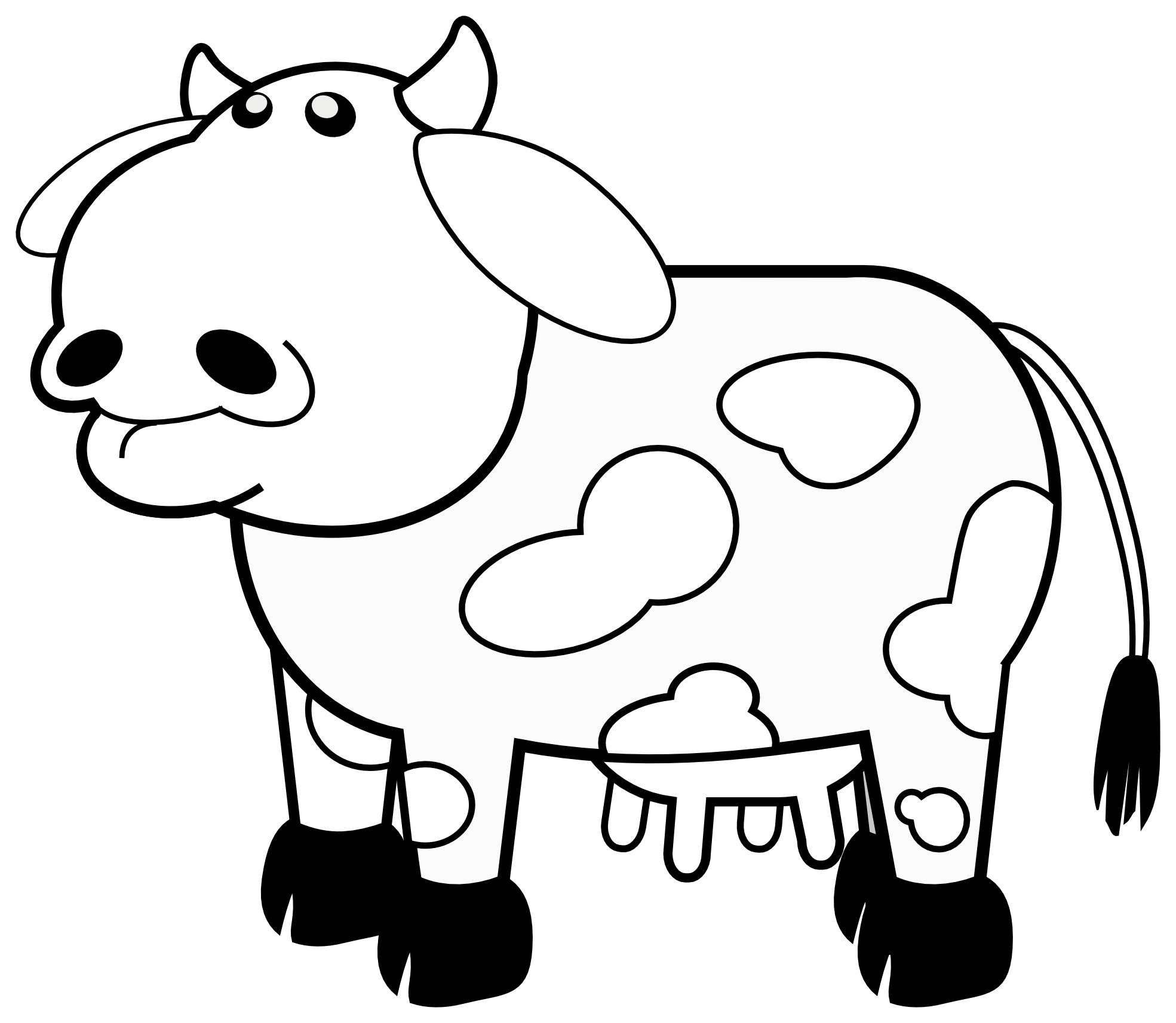 Free Black And White Cow Clipart