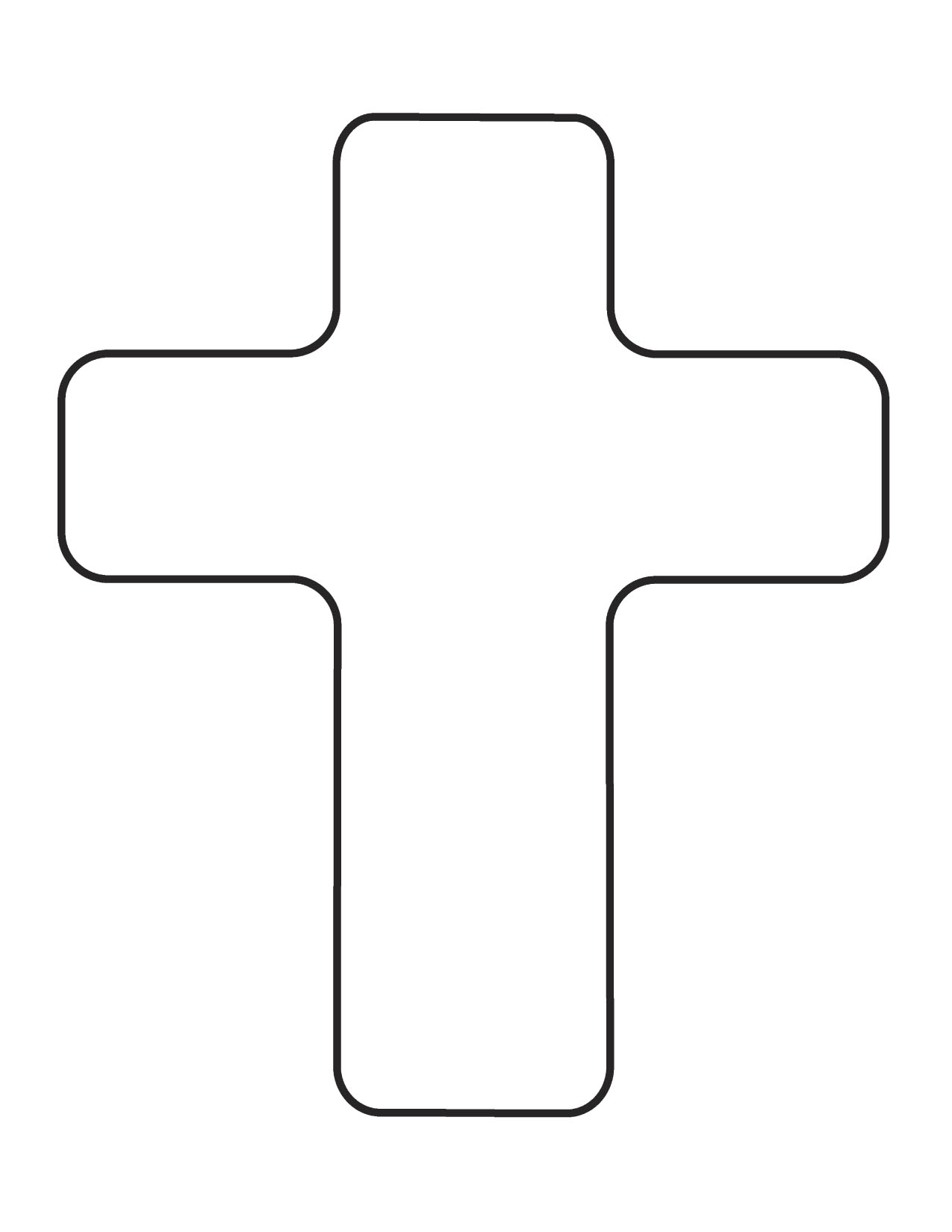Printable Cross Coloring Page
