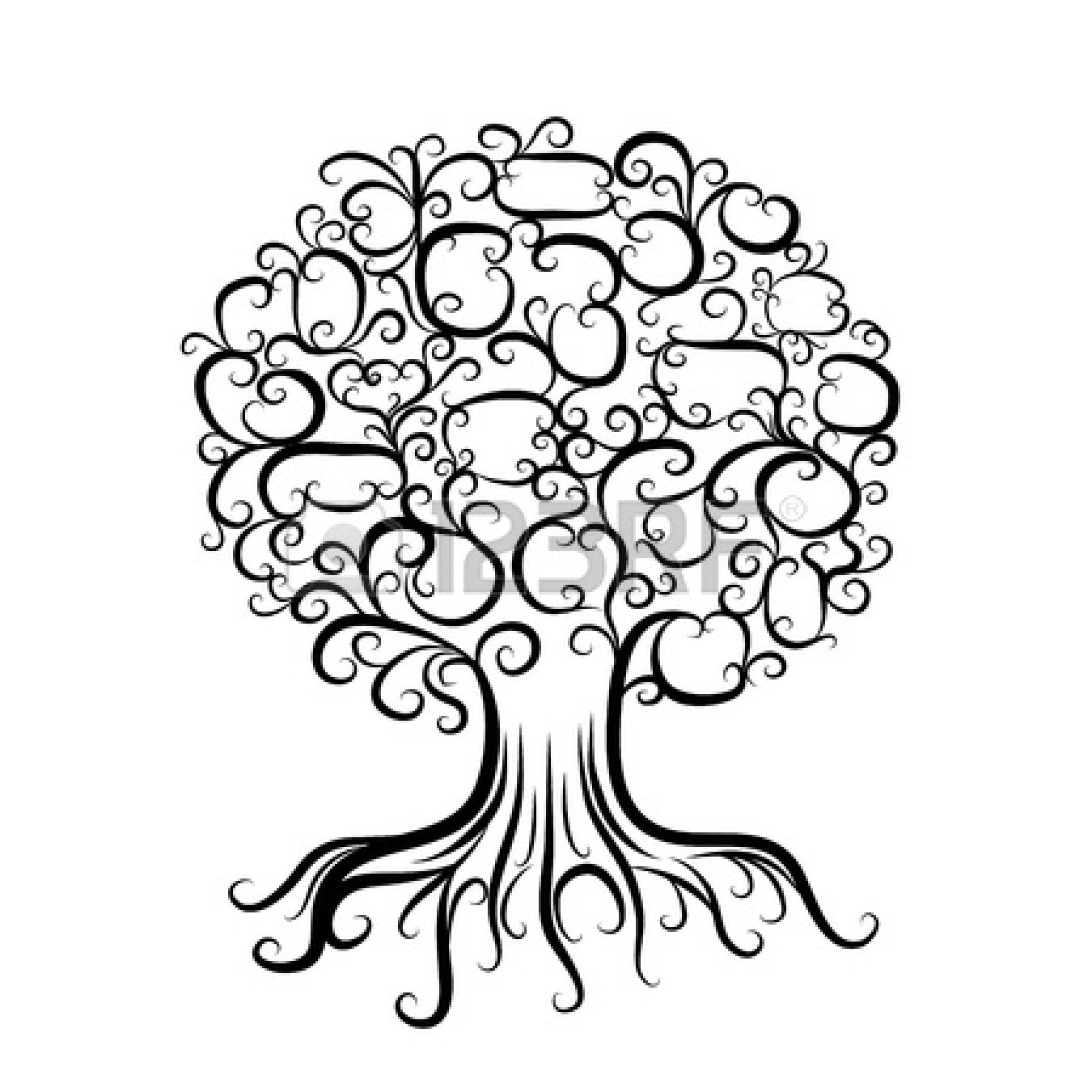 Tree Roots Silhouette Clip Art