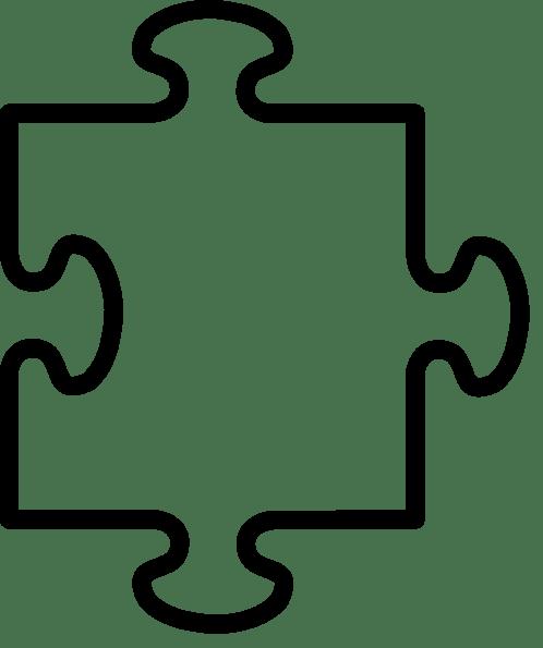 Autism puzzle piece coloring page