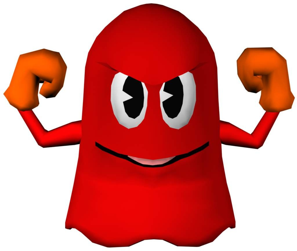Red Pacman Ghost
