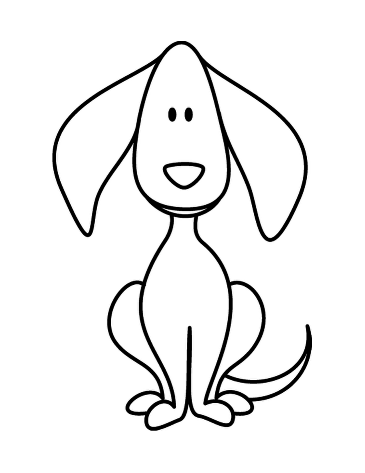Dog Kindergarten Worksheet Guide Line Drawing