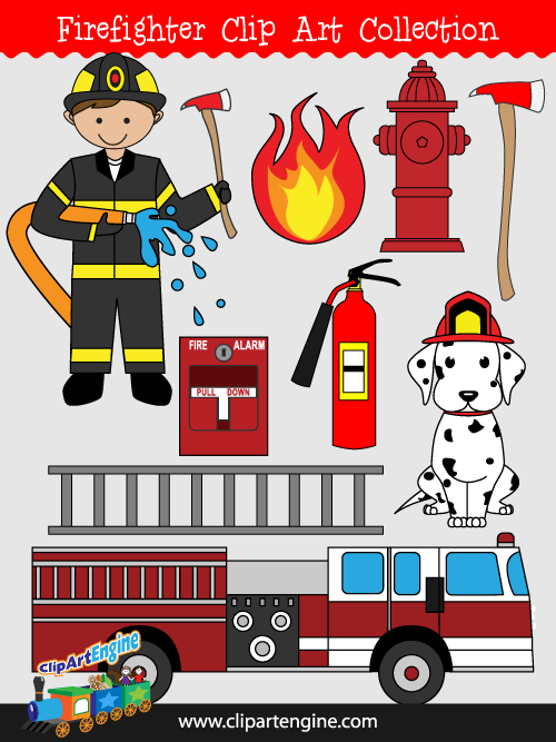 Firefighter Clip Art Collection For Personal And Commercial Use