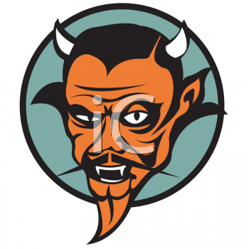 """This """"retro devil tattoo design"""" clipart image can be licensed as part of a"""